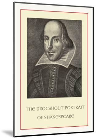 Droeshent Portrait of Shakespeare--Mounted Art Print