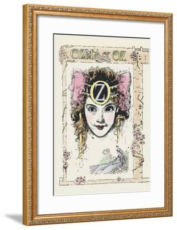 Ozma of Oz-John R^ Neill-Framed Art Print