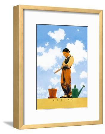 Spring-Maxfield Parrish-Framed Art Print