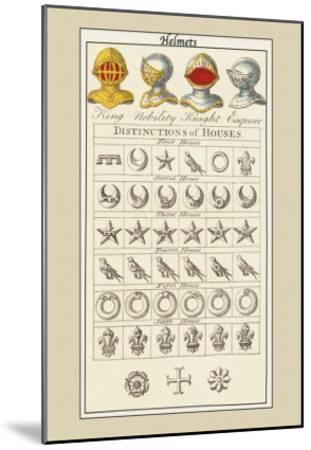 Helmets and Distinction of Houses-Hugh Clark-Mounted Art Print