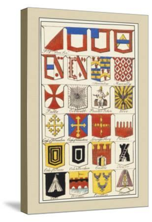 Heraldic Arms: Twemlow and Mascally-Hugh Clark-Stretched Canvas Print