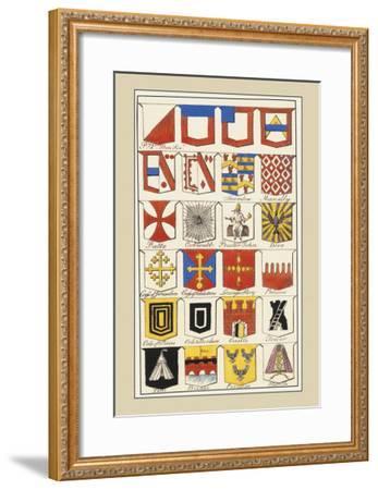 Heraldic Arms: Twemlow and Mascally-Hugh Clark-Framed Art Print