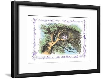 Alice in Wonderland: The Cheshire Cat-John Tenniel-Framed Art Print