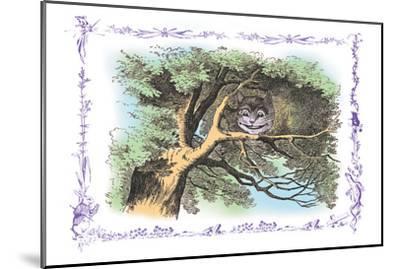 Alice in Wonderland: The Cheshire Cat-John Tenniel-Mounted Art Print