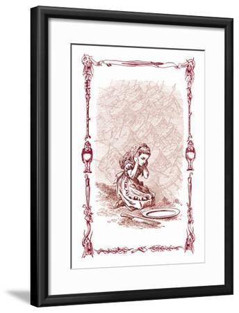 Through the Looking Glass: The Drums Began-John Tenniel-Framed Art Print
