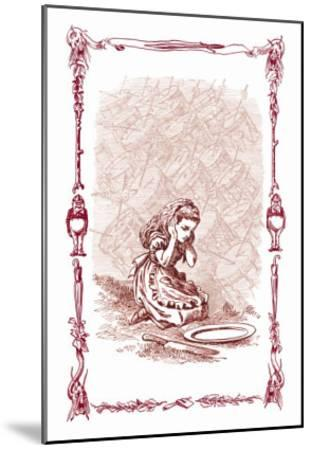 Through the Looking Glass: The Drums Began-John Tenniel-Mounted Art Print
