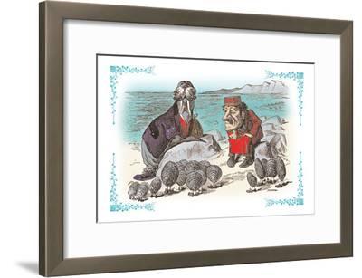 Through the Looking Glass: Walrus, Carpenter and Oysters-John Tenniel-Framed Art Print