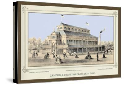 Campbell Printing Press Building, Centennial International Exhibition, 1876-Thompson Westcott-Stretched Canvas Print