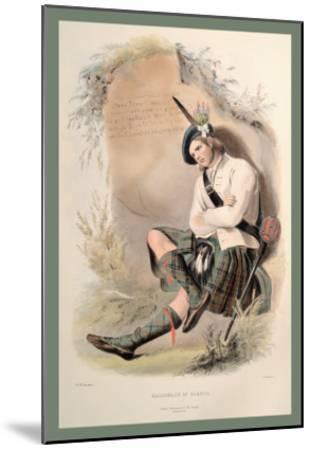 MacDonald of Glenco-R^r^ Mcian-Mounted Art Print