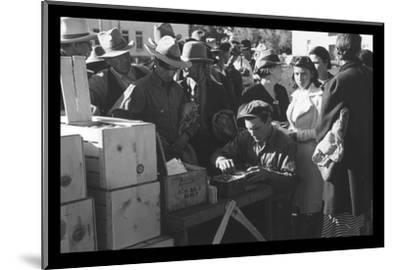 Distributing Surplus Commodities-Russell Lee-Mounted Photo