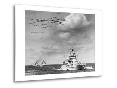 The Fleet, The U.S. Navy Sailing to Victory--Metal Print