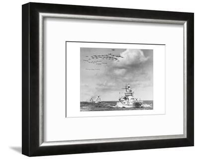 The Fleet, The U.S. Navy Sailing to Victory--Framed Photo