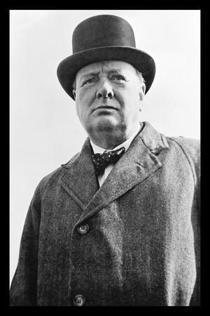 Prime Minister Winston Churchill of Great Britain--Stretched Canvas Print
