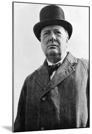 Prime Minister Winston Churchill of Great Britain--Mounted Photo