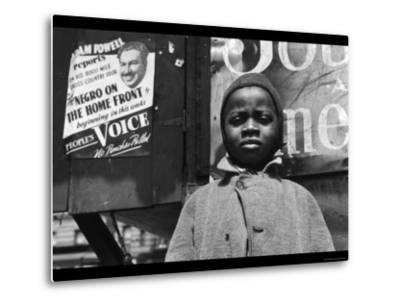 Harlem Newsboy-Gordon Parks-Metal Print