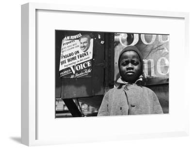 Harlem Newsboy-Gordon Parks-Framed Photo