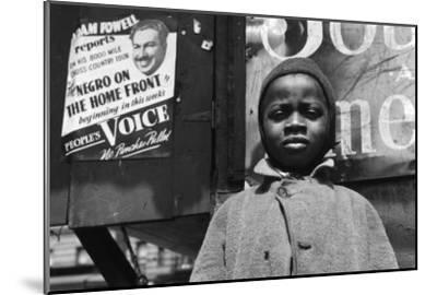 Harlem Newsboy-Gordon Parks-Mounted Photo