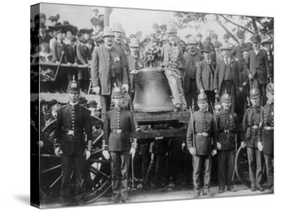 Liberty Bell at Bunker Hill--Stretched Canvas Print