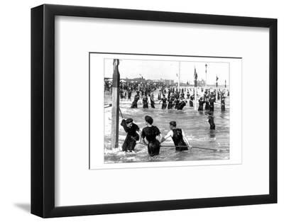 Coney Island Surf Crowd-William H. Rau-Framed Photo