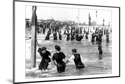 Coney Island Surf Crowd-William H. Rau-Mounted Photo