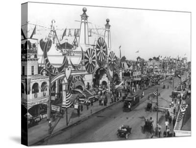 Luna Park and Surf Avenue-Irving Underhill-Stretched Canvas Print