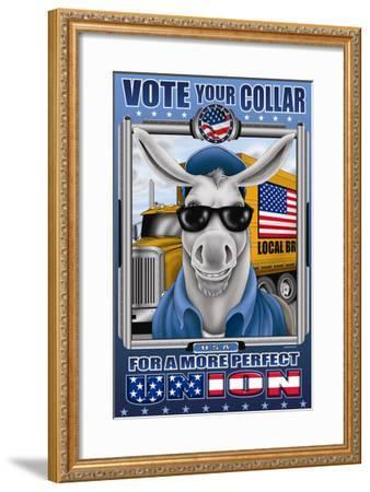 Vote Your Collar for a More Perfect Union-Richard Kelly-Framed Art Print