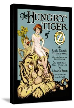 The Hungry Tiger of Oz-John R^ Neill-Stretched Canvas Print