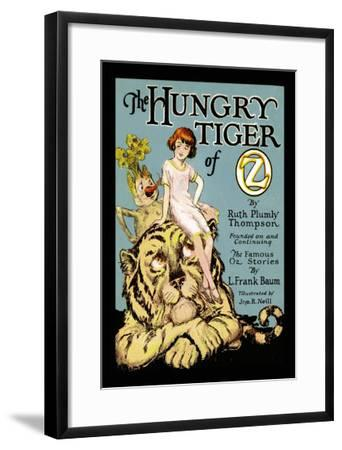 The Hungry Tiger of Oz-John R^ Neill-Framed Art Print