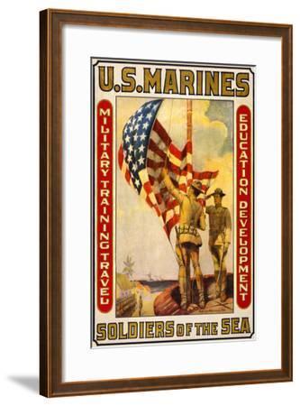 Soldiers of the Sea, Military Training Travel Education Development-Sidney Riesenberg-Framed Art Print