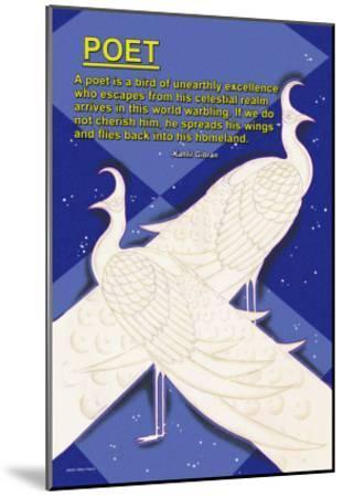 A Bird is a Poet--Mounted Art Print