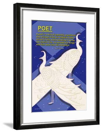 A Bird is a Poet--Framed Art Print