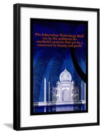 Information Technology--Framed Art Print