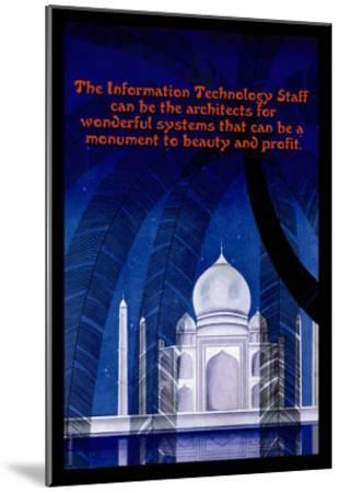 Information Technology--Mounted Art Print
