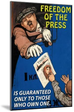 Freedom of the Press--Mounted Art Print
