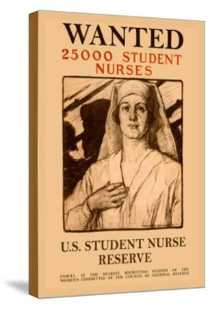 Wanted 25,000 Student Nurses-Milton Bancroft-Stretched Canvas Print