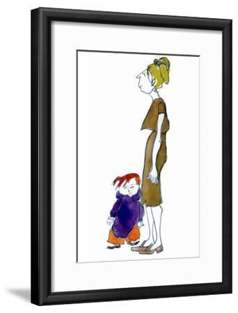 Jake and Mom-Norma Kramer-Framed Art Print