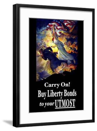 Carry On! Buy Liberty Bonds to Your Utmost-Edwin Howland Blashfield-Framed Art Print