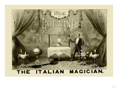Professor Bollini, The Italian Magician--Framed Art Print