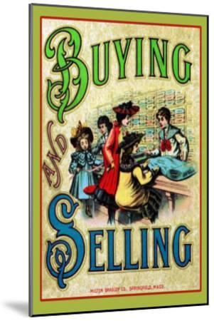 Buying and Selling--Mounted Art Print