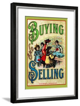 Buying and Selling--Framed Art Print