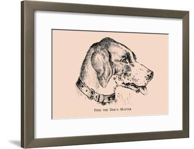Optical Illusion Puzzle: Find the Dog\'s Master Art Print by   Art.com