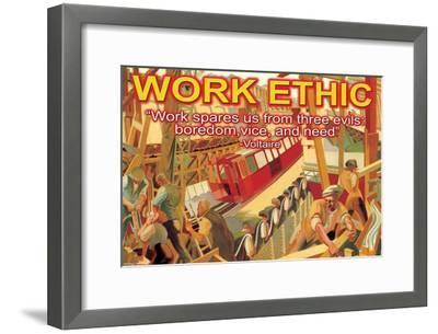 Work Ethic--Framed Art Print