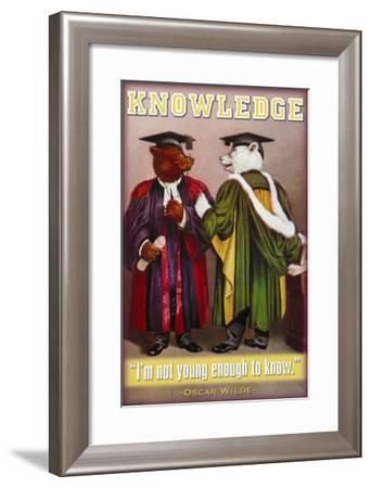 Knowledge--Framed Art Print