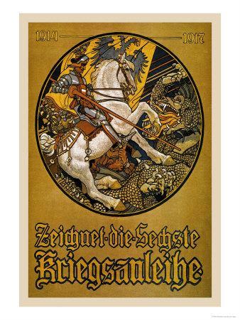 Zeichnet die Sechste Kriegsanleihe (Subscribe to the Sixth War Loan)-Maximilian Lenz-Framed Art Print