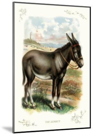The Donkey--Mounted Art Print