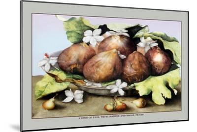 Dish of Figs with Jasmine and Small Pears-Giovanna Garzoni-Mounted Art Print