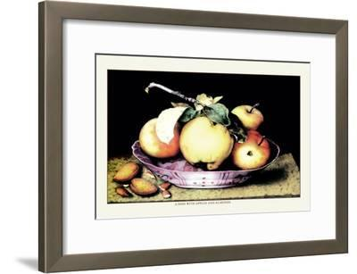 Dish with Apples and Almonds-Giovanna Garzoni-Framed Art Print