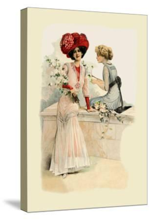 Ladies on the Veranda--Stretched Canvas Print