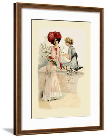 Ladies on the Veranda--Framed Art Print