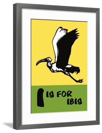 I is for Ibis-Charles Buckles Falls-Framed Art Print